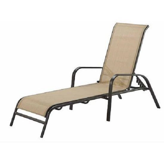 Outdoor patio chaise lounge relax chair adjustable back for Chaise longue relax