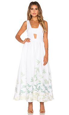 Mara Hoffman Tie Back Dress in Birds Embroidery