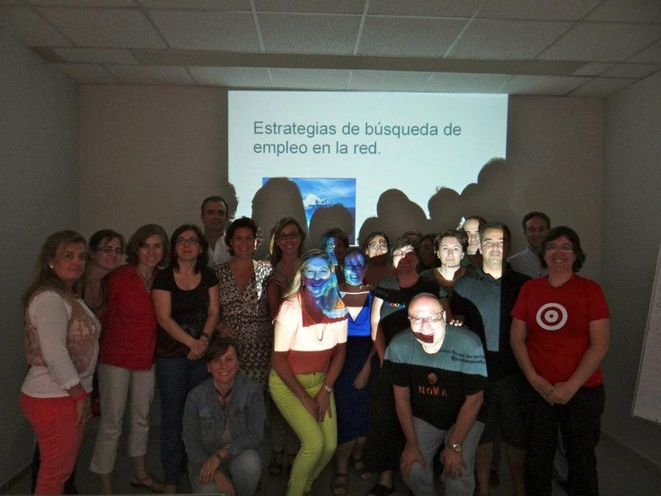 Esta foto si que tiene estrategia!!! ;-) Curso RRSS en el SAE. Dic-2012