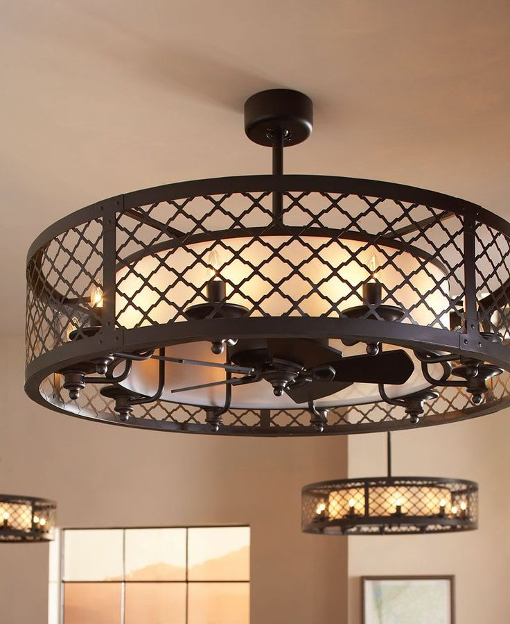 The Unique Design Of The Brighton Court Ceiling Fan Is