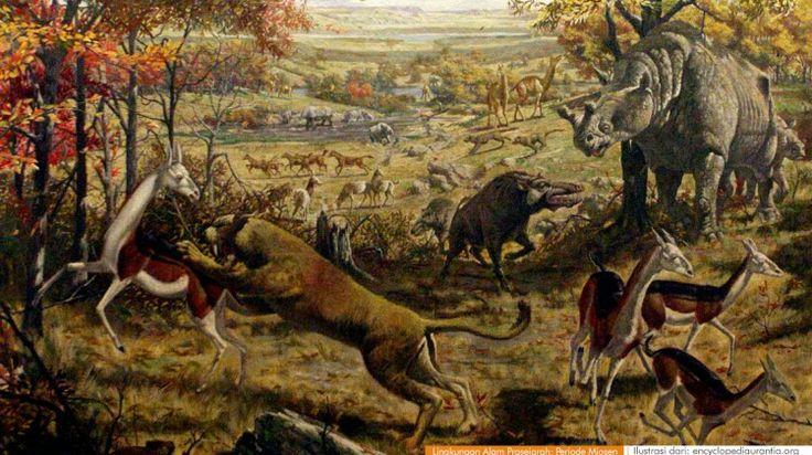 wacananusantara.org   Lingkungan Alam Prasejarah; Periode Miosen