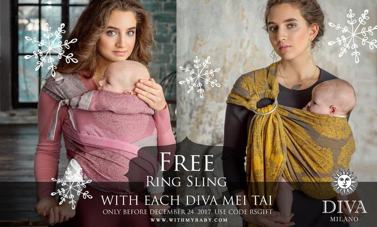 Christmas Surprise! 🎄 Get your gift 🎁 - a FREE Diva Ring Sling with each purchase of any Diva Meh Dai! https://www.withmybaby.com/…/babywea…/mei-tai-baby-carriers/ Ends December 24! Use a coupon code RSGIFT when making the order for your Diva Meh Dai! Please note that you can choose the size of the ring sling, but we choose the color! ❤️