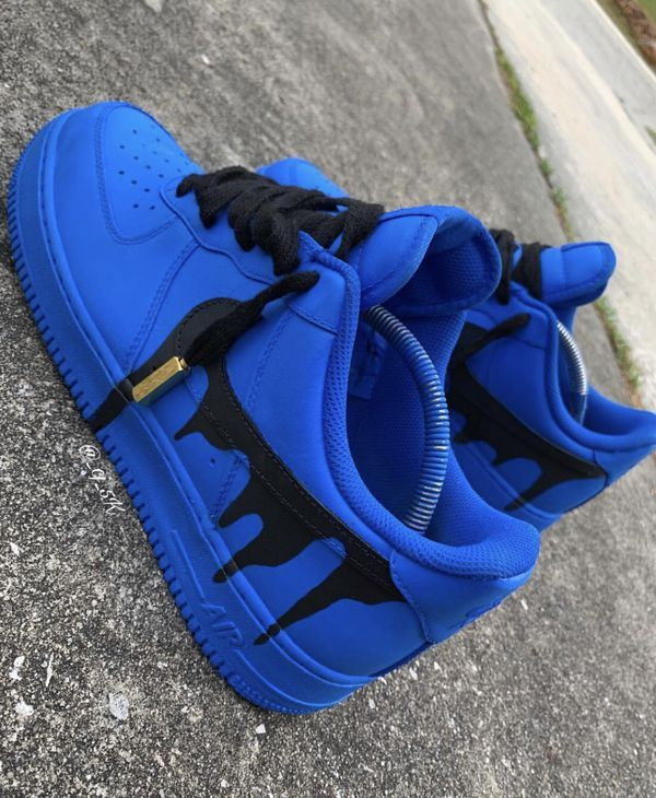 Blue Drip Air Force 1 Custom For Sale In Riverside Ca Custom