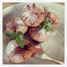Chokladmuffins med nutella och färsk mynta