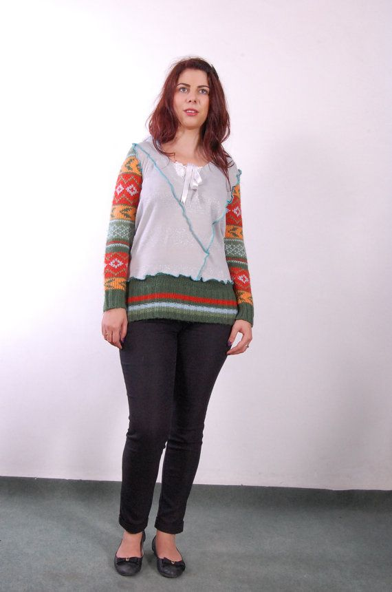 multicolour  romantic hoodie sweater by avacolour on Etsy, $50.00