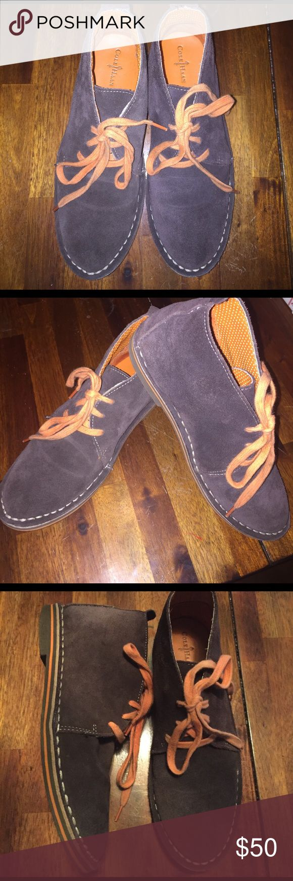 Cole Haan Boys suede Cole Haan Shoes from Niemen Marcus. Gently used. Gorgeous stitching and orange suede with leather insoles. Bottom soles of shoes are gently used. Worn only for special dress occasions for music recitals etc. Cole Haan Shoes Dress Shoes