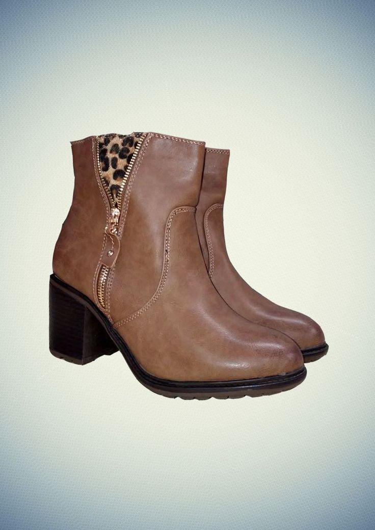 Χειμερινό μποτάκι με χοντρό τακούνι #FW14 #boots #fashion