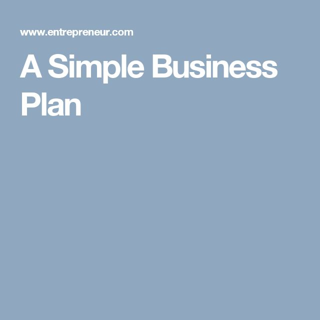 Best 25+ Simple business plan ideas on Pinterest Simple business - simple business plan template