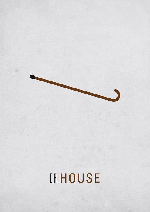 House M.D. (2004–2012) ~ Minimal TV Series Poster by Thomas Girault