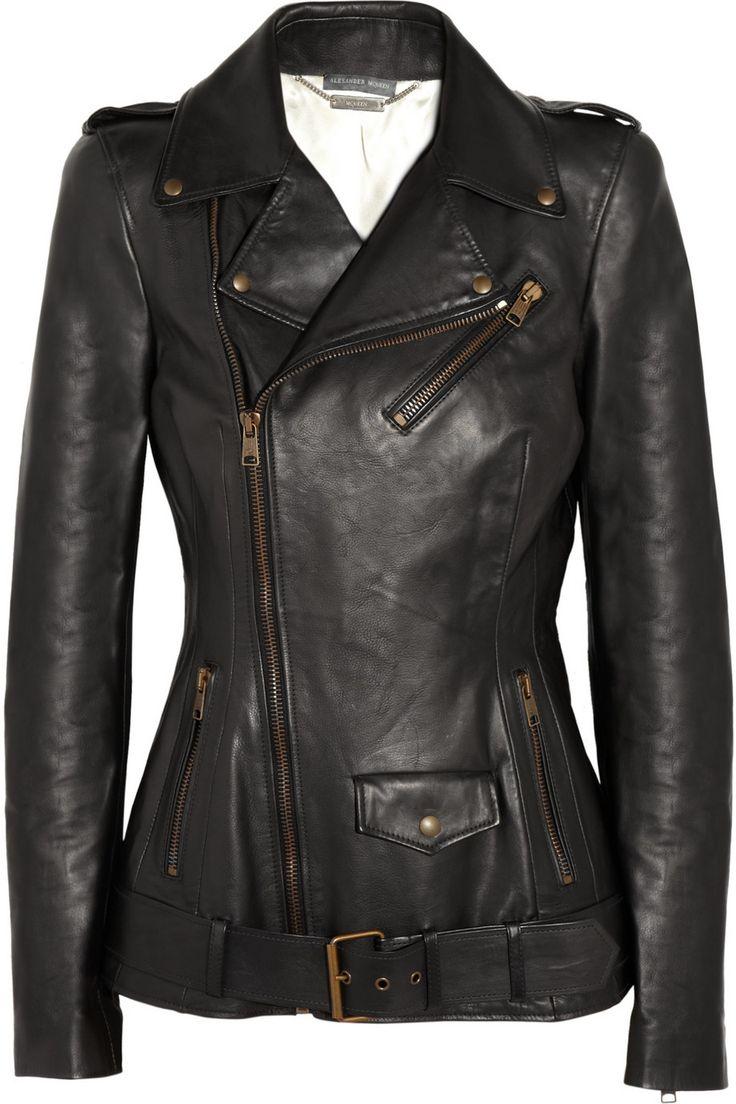 Alexander McQueen|Leather biker jacket|NET-A-PORTER.COM