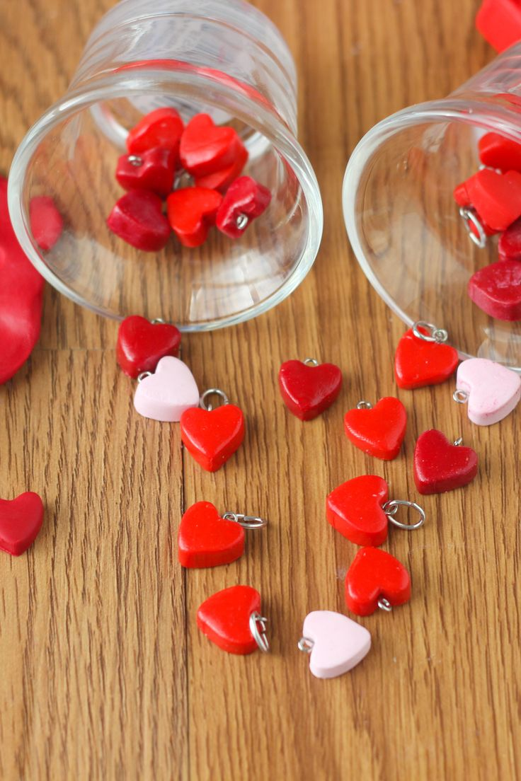 Make your own heart charms using polymer clay