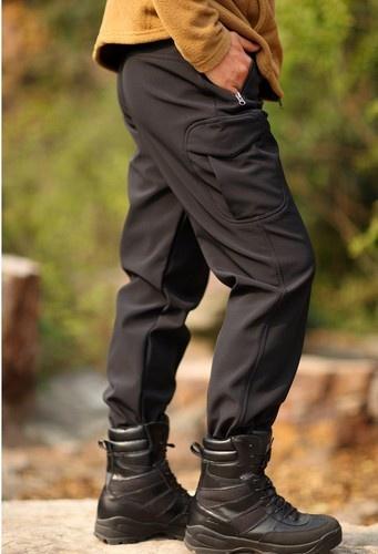 New Mens Tactical Soft Shell Waterproof Outdoor Ski Snowboarding Pants Black - 30$