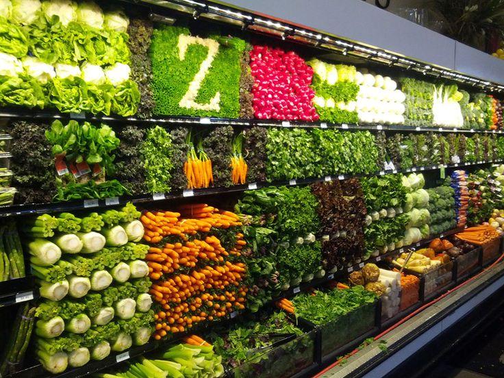 Дизайн витрин магазинов, сезонное оформление витрин, блог movesale - Вкусные витрины из овощей