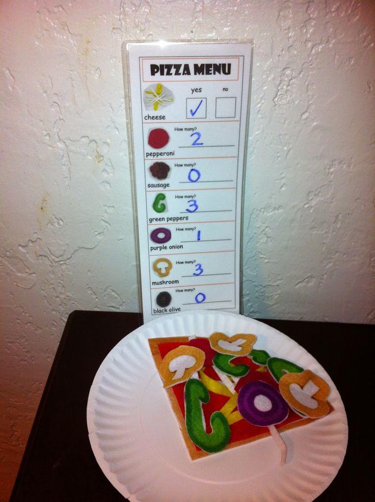 FREE pizza menu. Mrs. Drake's Pre-K Bear Paws