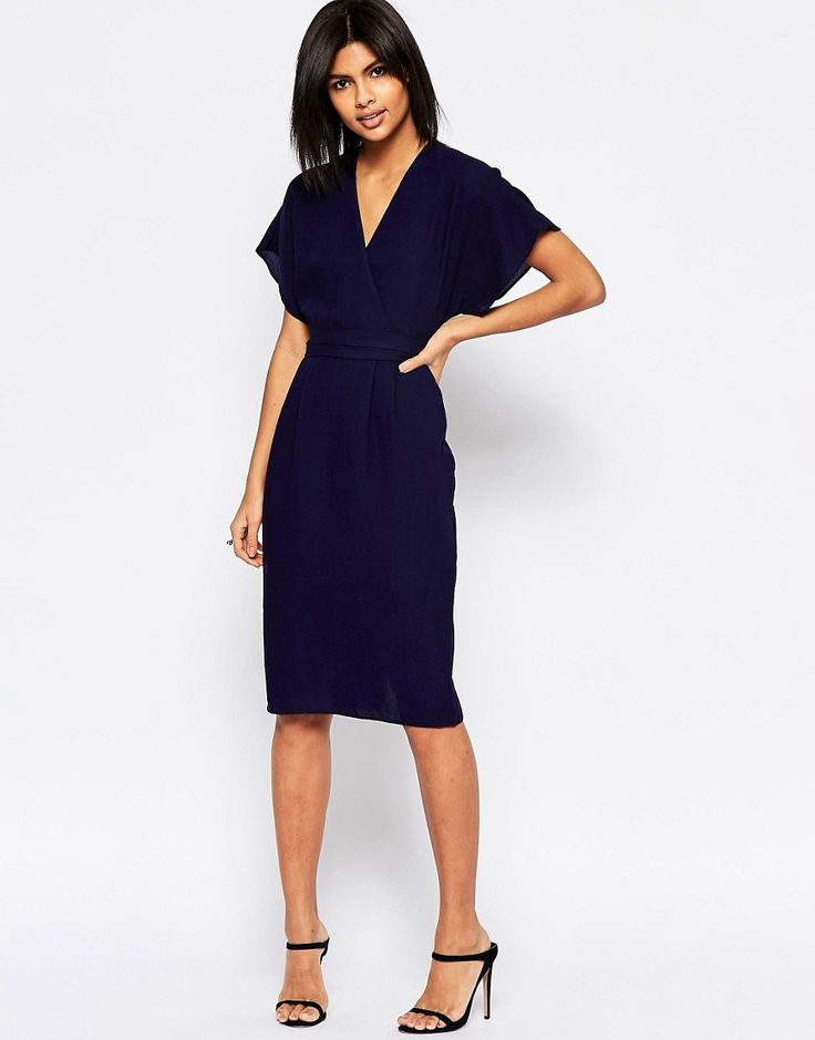 Image 1 of ASOS Obi Wrap Dress                                                                                                                                                                                 More
