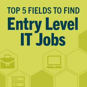Top 5 Fields to Find Entry-Level IT Jobs #techjobs #informationtechnology