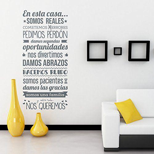 Mejores 32 im genes de decoracion en pinterest pegatinas - Pegatinas pared frases ...