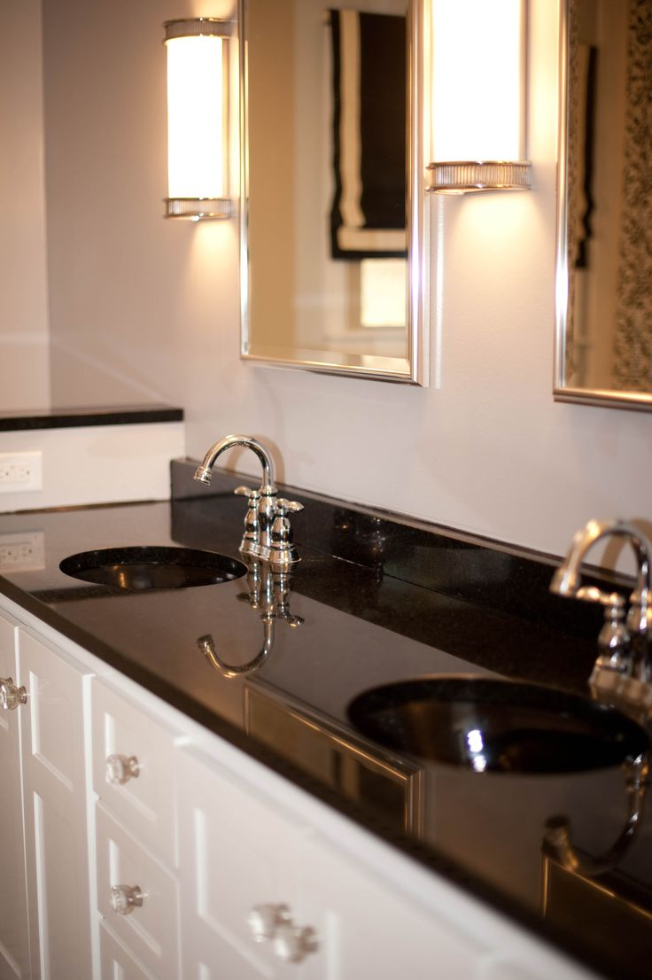 Best 25 black granite ideas on pinterest black granite - Black marble bathroom countertops ...
