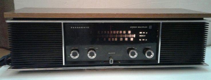 Panasonic Vintage Stereo Multiplex AM/FM Stereo Radio Model RE 7300 Retro 1974? | eBay