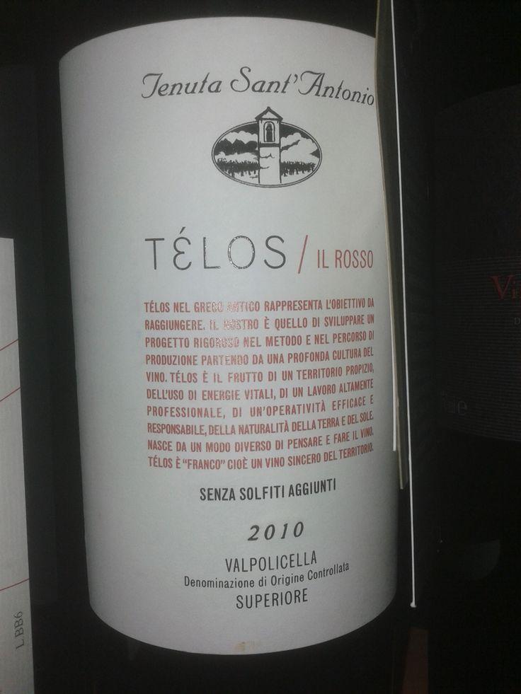 Télos Rosso Senza Solfiti Tenuta Sant'Antonio