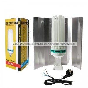 CFL / Low Energy Kit 250W Dual Spectrum - 2700/6500k. #growkits