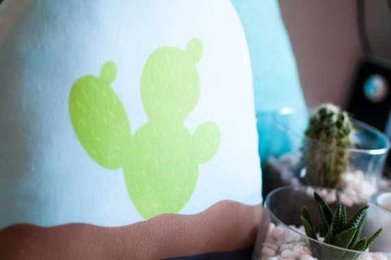 Cactus Pillow by thetickledpinkfox on Etsy