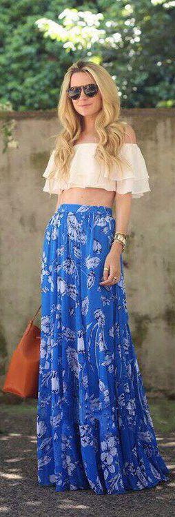 Morpheus Boutique - Blue White Floral Chiffon Off Shoulder Layer Celebrity Long Dress, $199.99 (http://www.morpheusboutique.com/new-arrivals/blue-white-floral-chiffon-off-shoulder-layer-celebrity-long-dress/)