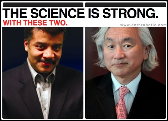Astrophysicist Neil deGrasse Tyson, and Theoretical Physicist Michio Kaku.
