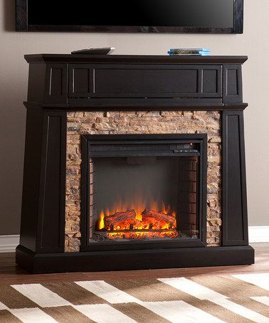 Another great find on #zulily! Black Crestwick Media Center Electric Fireplace #zulilyfinds