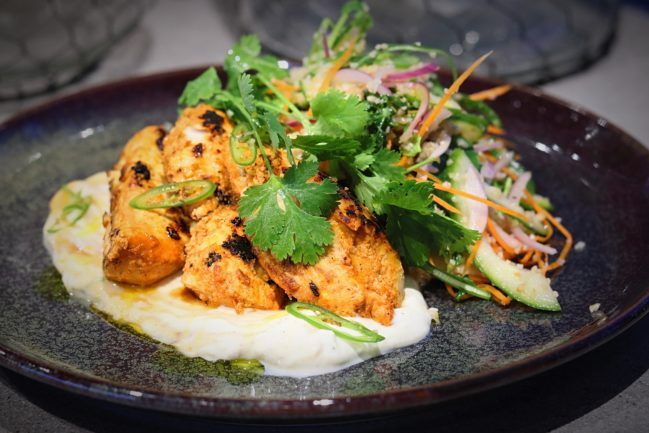Tandoori Chicken with Mango Yoghurt & Cous Cous Salad - Em's Food For Friends
