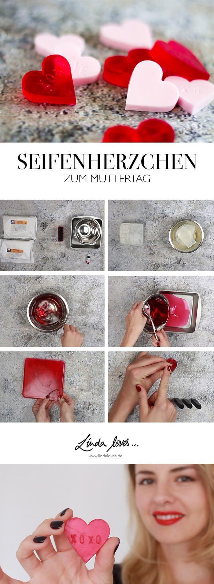 Step-by-Step DIY Seife in Herzform zum Muttertag