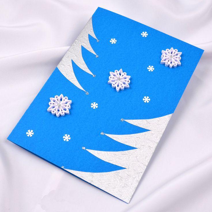 Украшаем открытки к новому году