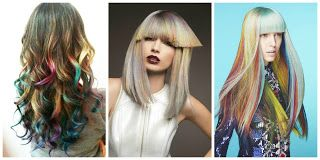 ¡Tendencia! Cabello Rubio y Arco iris #hairstyle #women #fashion #moda #mujeres