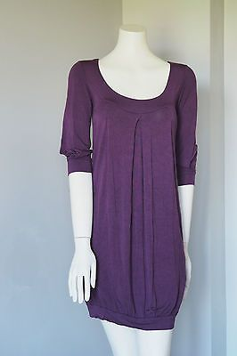 Aritzia-Talula-Women-Purple-Dress-Stretchy-Tunic-Bubble-Size-S-Made-In-Canada