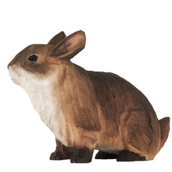 DecoAnimal is a series of life-like animals that are skilfully carved by hand from linden wood. Like the other animals in the series, the cute rabbit is carved and painted by hand. #DecoAnimal #cute #rabbit #kaninchen #kanin #wildlifegarden.info #wildlifegarden