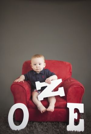 Melissa Calise Photography (First Birthday Photo Shoot Ideas Boy Posing Letters) by nettie