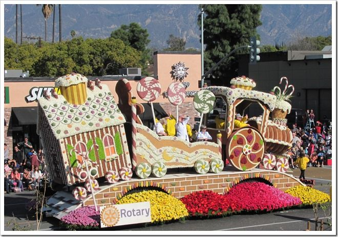 Rose Bowl Parade Floats | Rotary Int'l- Engage Rotary, Change Life's- gingerbread train ...