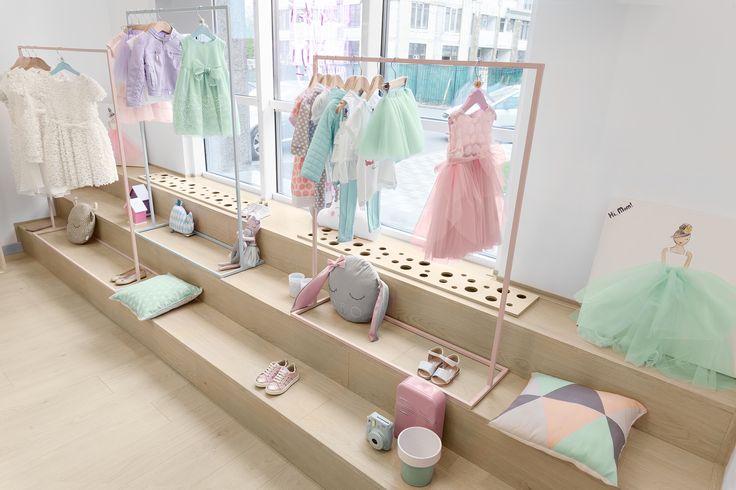 Childrens clothing shop in Kyiv, Ukraine, designed by Lena Petrescu