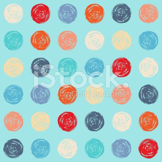 Color seamless grunge polka dots pattern royalty-free stock vector art