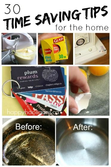 30 Time Saving Tips and Hacks for Home - Happy Hooligans