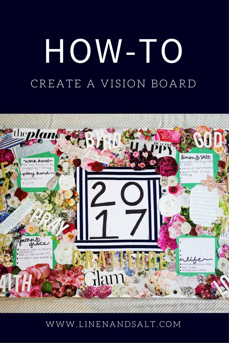 Make a vision board for the new year!
