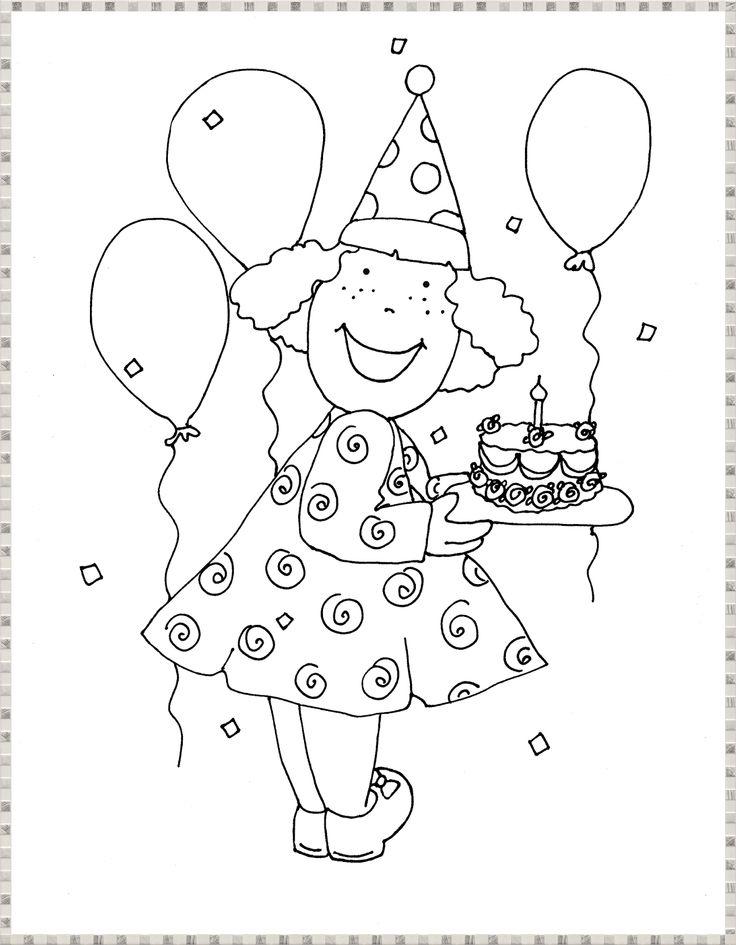 1000 images about feest kleurplaten wensjes op