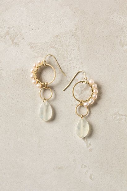 crested pearl earrings #anthropologie