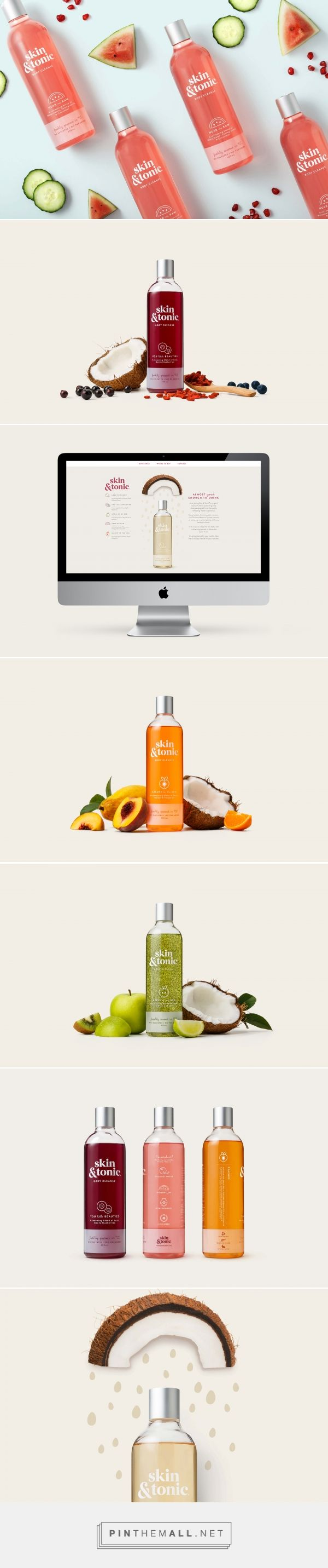 Skin & Tonic Body Care Packaging by Milk NZ Limited | Fivestar Branding Agency – Design and Branding Agency & Curated Inspiration Gallery