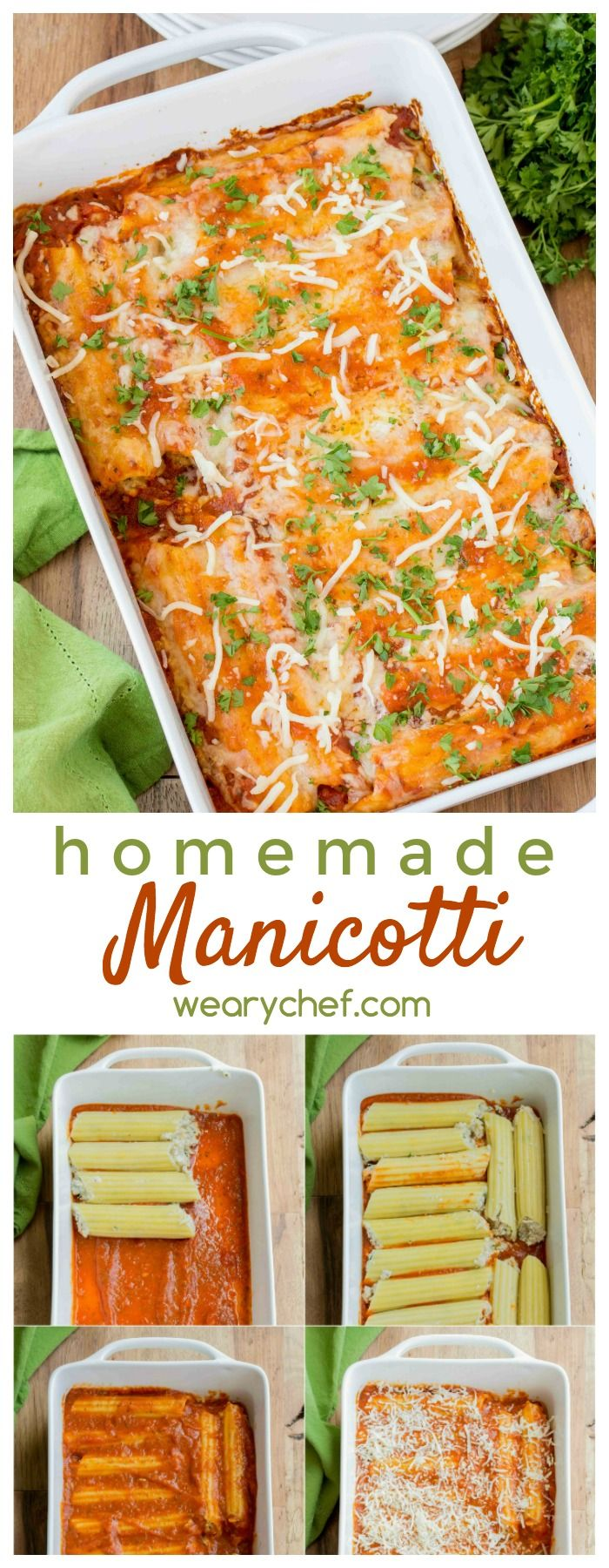 Forget the restaurant and enjoy this Homemade Manicotti right from your own…