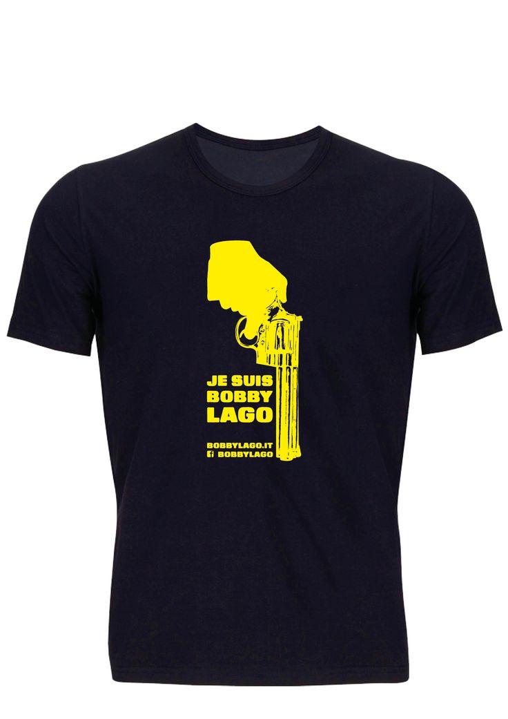 Il prototipo della maglietta di Bobby Lago.