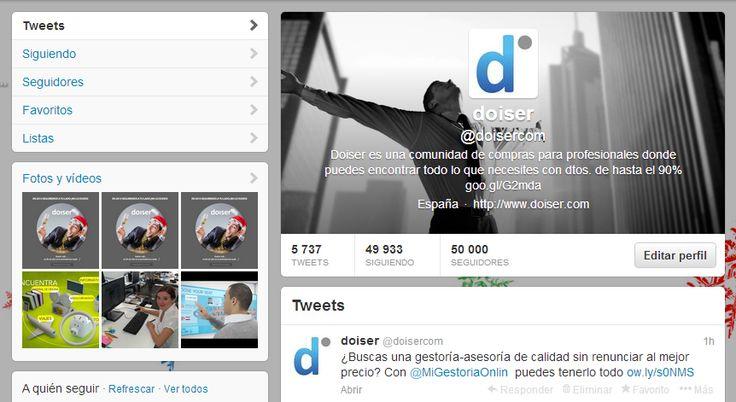 Nosotros ya hemos recibido nuestro regalo... ¡50.000 followers en Twitter!  ¡Muchísimas gracias a todos!