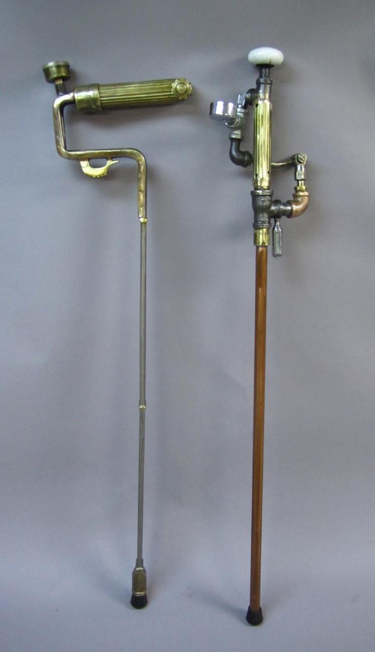 Steampunk cane walking stick walking sticks walking