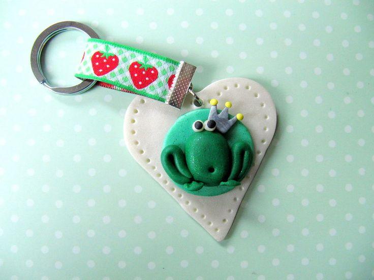 Schlüsselanhänger Froschkönig von MIO-O auf DaWanda.com