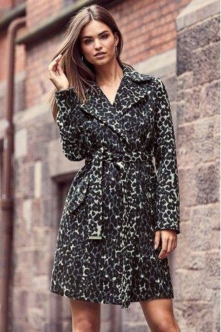511ff5f5ab85 Lipsy Leopard Wrap Coat | Outstanding Coats | Wrap coat, Lipsy, Coat
